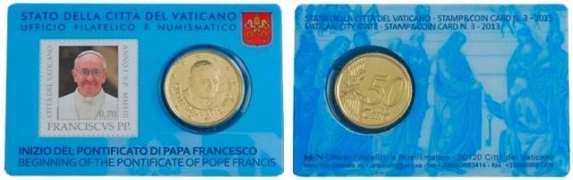 3º Stamp&Coincard Vaticano 2013